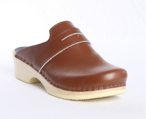 British Tan Smooth Leather with Natural Base