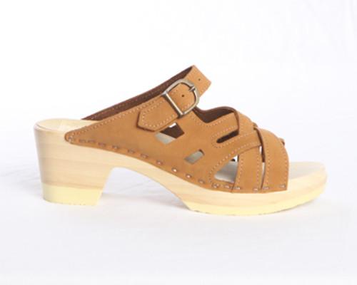 Weave Sandal Clogs - Mid Heels