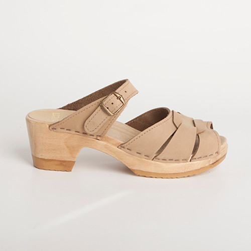 Square Accent Clogs - Mid Heels