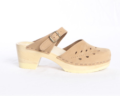 Leaf Punch Sandals - Mid Heels