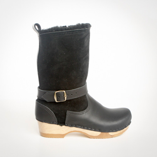 """7"""" Shearling  Clog Bootie - Bendable Low"""