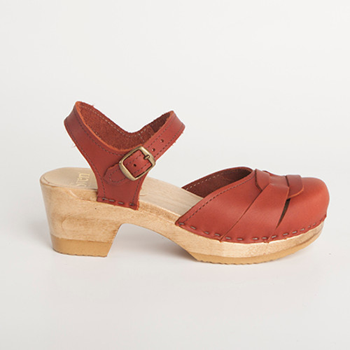 Square Accent - Closed Toe - Ankle Strap
