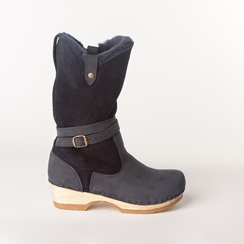 "Lisa 11"" Navy - Low Heels"