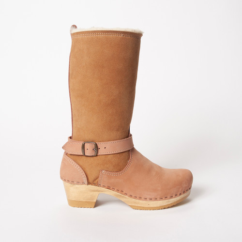 "11"" Cream /Rose - Mid Heels"