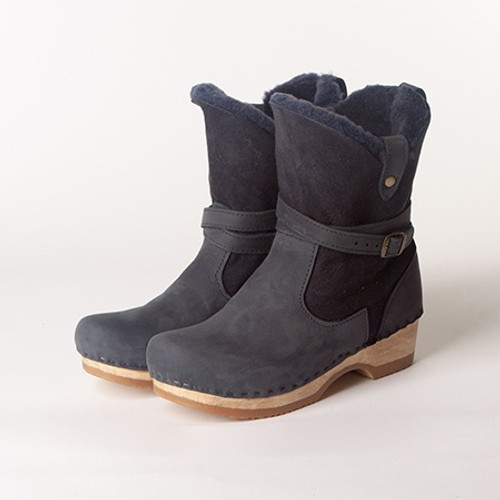 "Lucy - 7"" Navy Boots - Bendable"