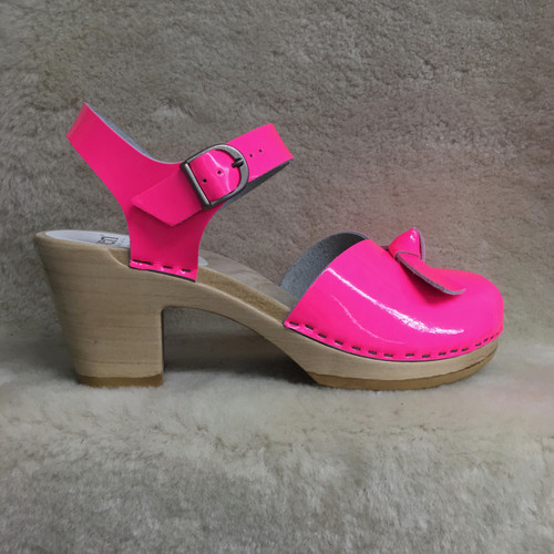 Bow Tie Clogs - Peep Toes - High Heels