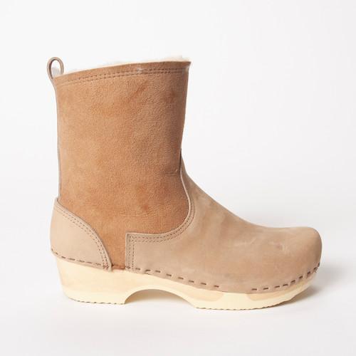 "7"" Cream Shearling  - Low Heels"