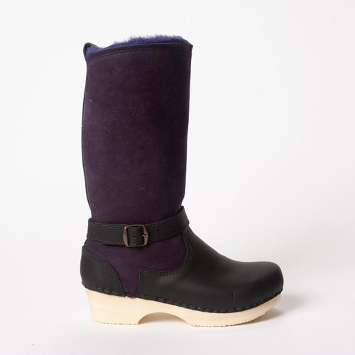 "11"" Purple / Black  - Low Heels"