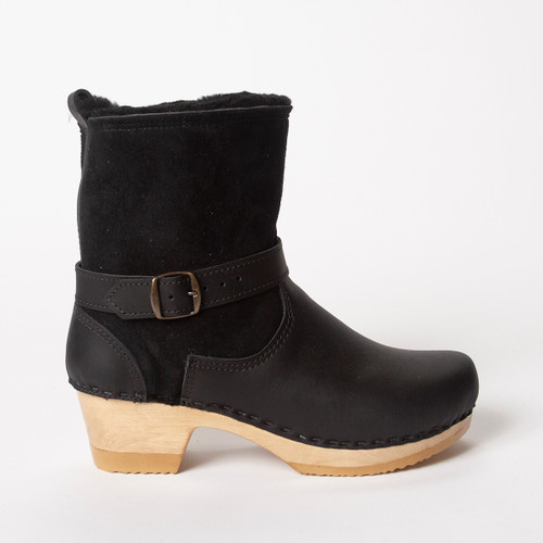 Black Shearling with Brown Base