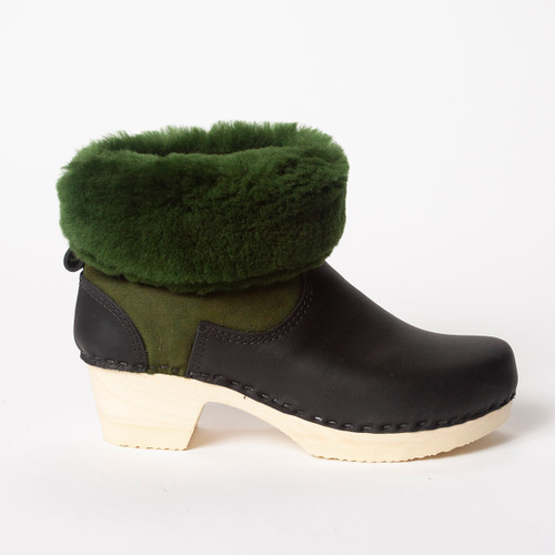 "7"" Green with Black - Mid Heels"