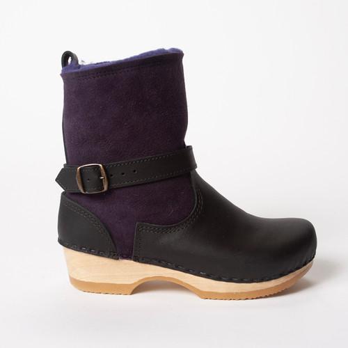 "7"" Purple / Black  - Low Heels"