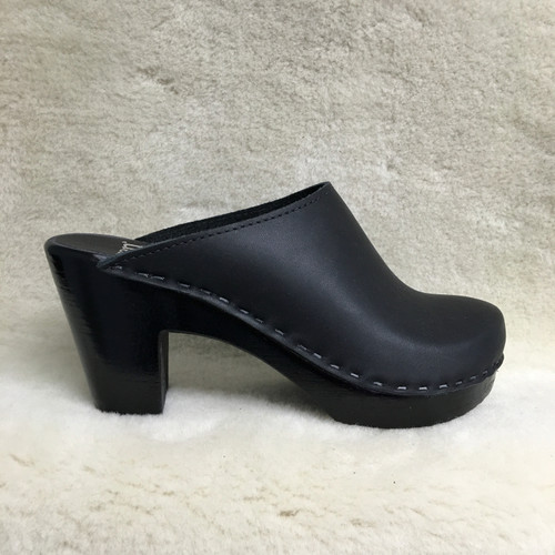 Plain Clogs -  High Heels - Black Base Only