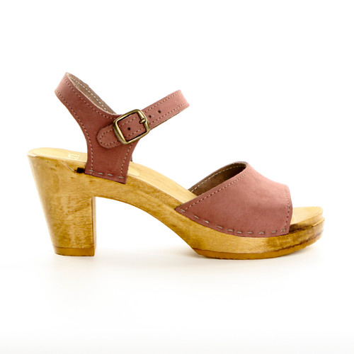 Mauve Suede with Brown Base
