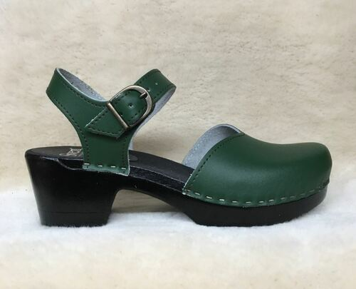 Mary Jane Clogs - Mid Heels - Black Base Only