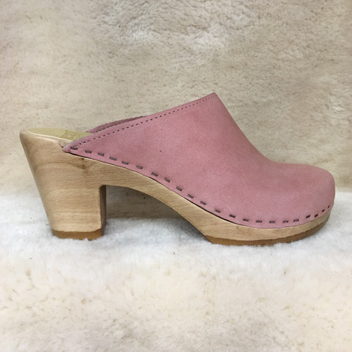 Plain Clogs - Rose Nu Buc