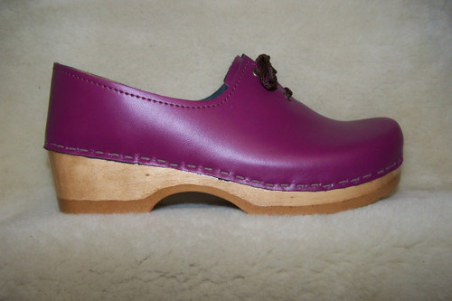 Plum - Tie Clogs - Closed Back Clogs