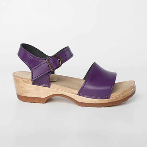 Purple Smooth Leather with Brown  Base