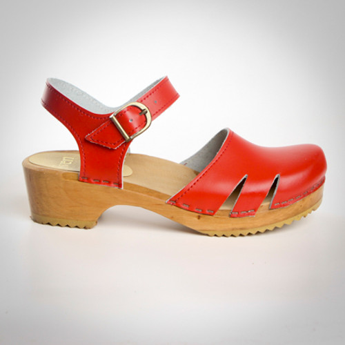 Side Slit Sandal - Swedish Clogs