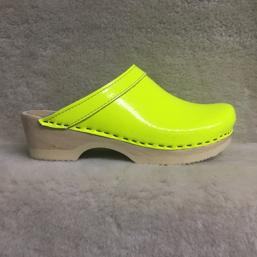 Neon Yellow - Plain Clogs