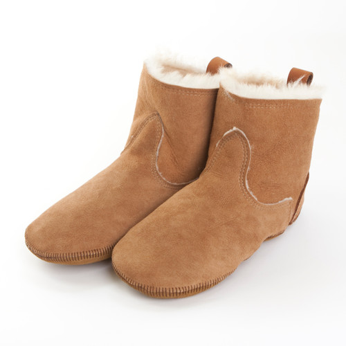 Women's Short Boot Liner Shearling Slippers