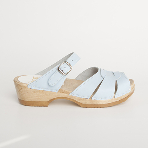 Square Accent Clogs - Front Strap