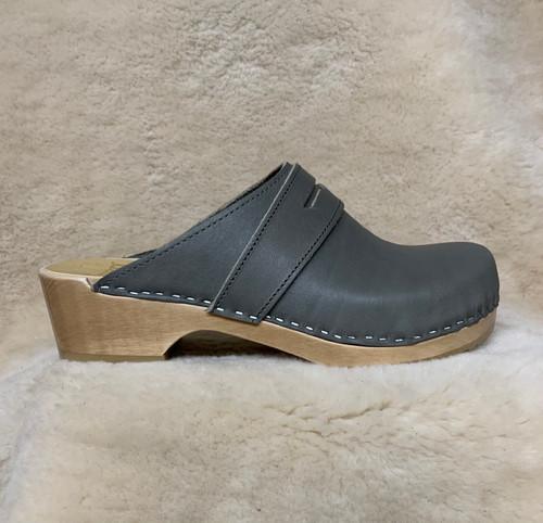 Slate Gray  - Penny Loafer Clogs