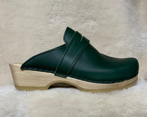 Men's Clogs - Hunter Green - Penny Loafers