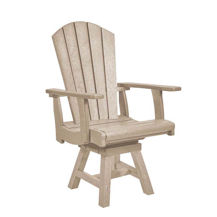 C. R. Plastics Adirondack Swivel Dining Arm Chair