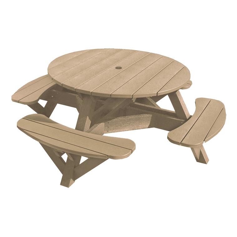 """C. R. Plastics 51"""" Round Picnic Table"""