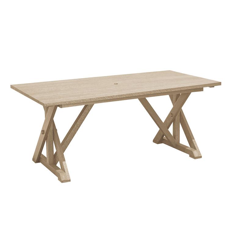 C. R. Plastics Harvest Wide Dining Table