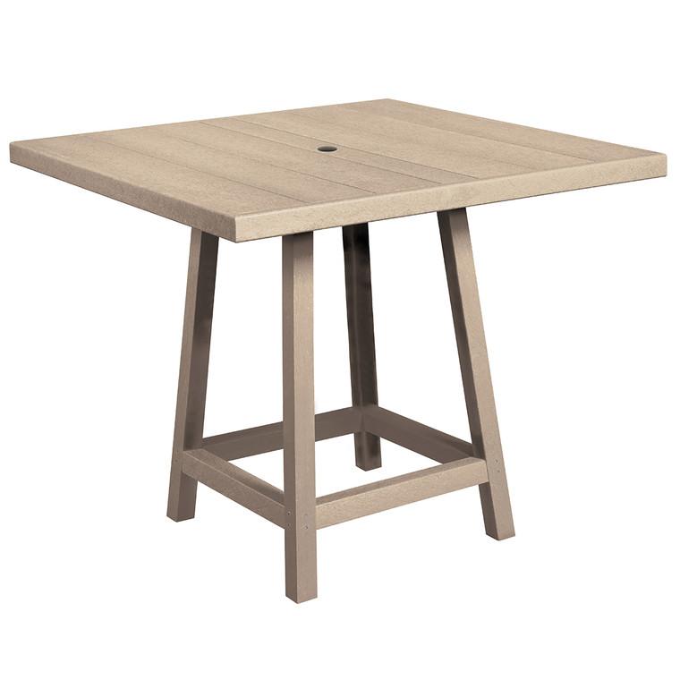 """C. R. Plastics 40"""" Square Premium Pub Table"""