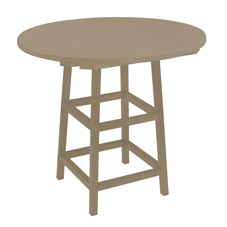 """C. R. Plastics 40"""" Round Pub Table"""