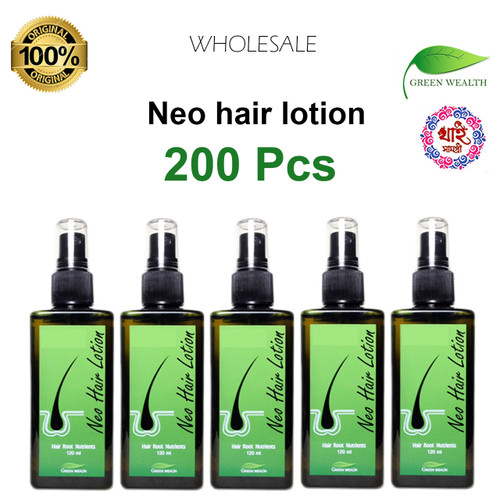 Neo hair lotion 200 Pcs , 100% Authentic 120ml worldwide delivery