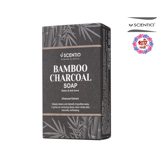 SCENTIO BAMBOO CHARCOAL SOAP 100g