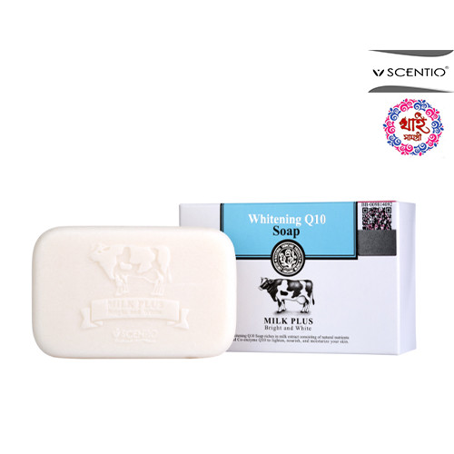 SCENTIO MILK PLUS WHITENING Q10 SOAP 100g