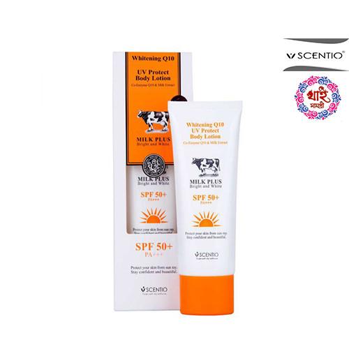 Scentio Milk plus Whitening Q10 UV protect Body lotion SPF 50 +PA++ 100ml