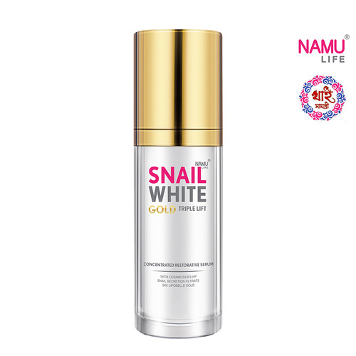 NAMU LIFE SNAIL WHITE GOLD TRIPLE LIFT SERUM 30 ML