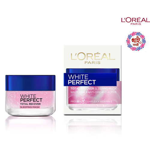 L'OREAL PARIS WHITE PERFECT TOTAL RECOVER SLEEPING MASK 50 ML.