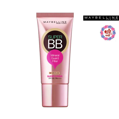 Maybelline New York Super Cover BB Mineral Guard Filter SPF 50 Pa++++ 02 Medium 30 ml.