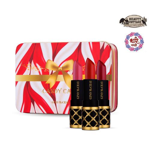 (BUY 1 GET 1) GINO MCCRAY CANDY CANE MINI LIPSTICK SET (3 PCS / 1 BOX )