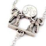 Holy Communion Black & Silver Vine Rosary