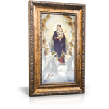 """Queen of Angels - Framed Canvas 6"""" x 11"""" (Including gold frame: 9.5"""" x 14.5"""")"""