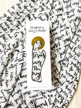 Hail Mary Hand-lettered: Wrapped in Mary's Mantle Baby Swaddle