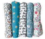 Floral Hail Mary: Wrapped in Mary's Mantle Baby Swaddle