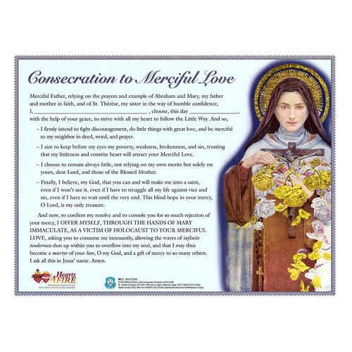 33 Days to Merciful Love - Consecration Day Certificate