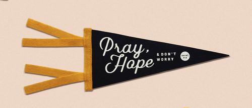 Pray, Hope & Don't Worry Mini Pennant