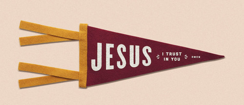 Jesus, I Trust in You Mini Pennant