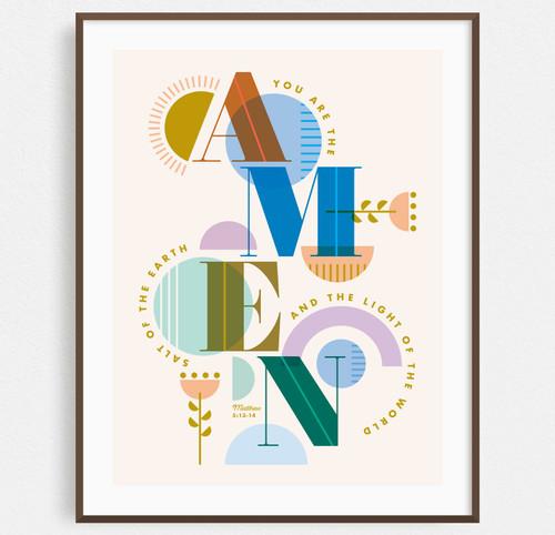 AMEN (Salt + Light) Print