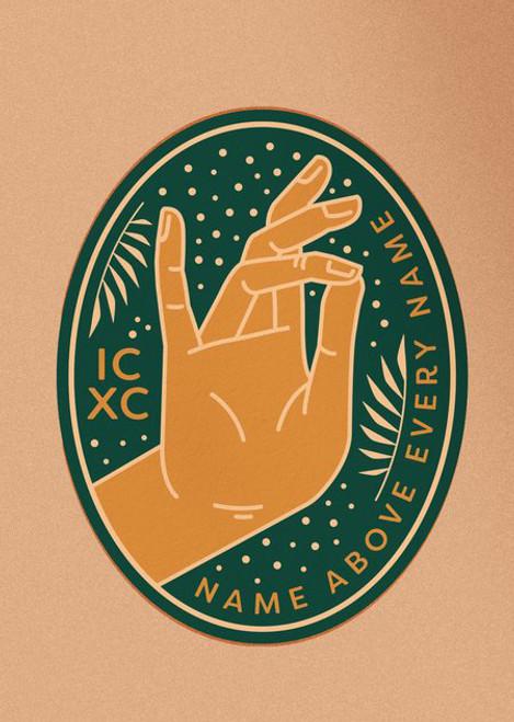 Blessing Hand of Christ Sticker
