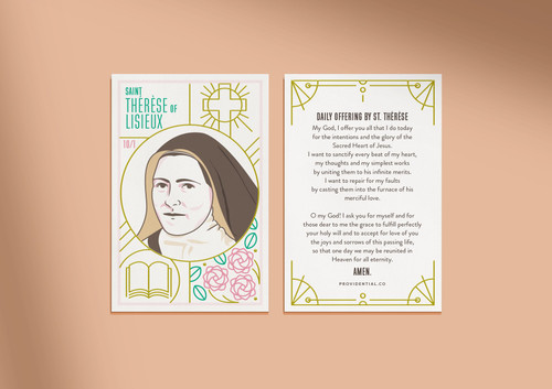 St. Therese of Lisieux Prayer Card
